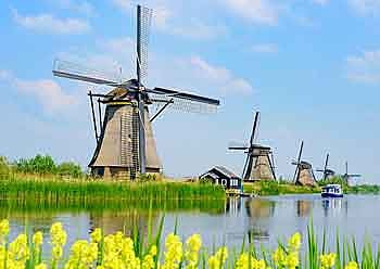 canals and windmills rotterdam