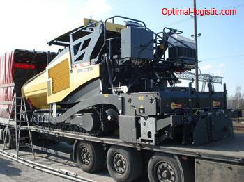Transport of asphalt pavers optimal-logistic.com
