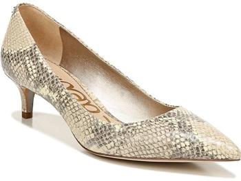 Comfortable Heels -Sam Edelman 'Dori' kitten heelp pump | 40plusstyle.com