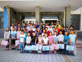 CBCF alumni volunteers present gifts and scholarship funds to students in China