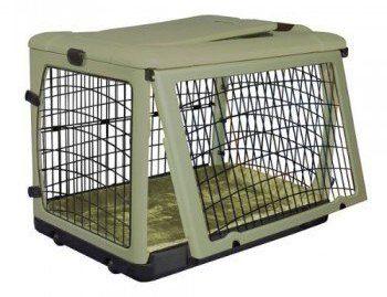 Pet gear other door steel crate on white bg