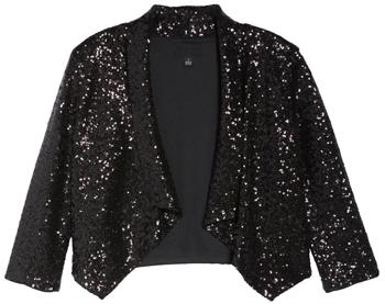shrugs and boleros for evening dresses: Donna Rico sequin bolero | 40plusstyle.com