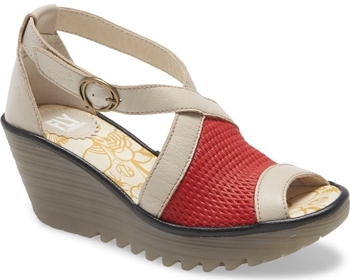 shoes with arch support - Fly London 'Yace' wedge sandal | 40plusstyle.com