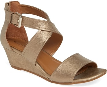 Shoes for wide feet - Comfortiva 'Rabea' wedge sandal | 40plusstyle.com
