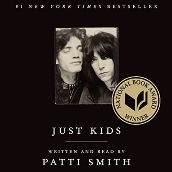 Favorite audios booksL Just Kids by Patti Smith (Audible, Amazon) | 40plusstyle.com