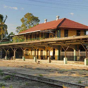 Imagen antigua de la Estación del Ferrocarril en Zacapa