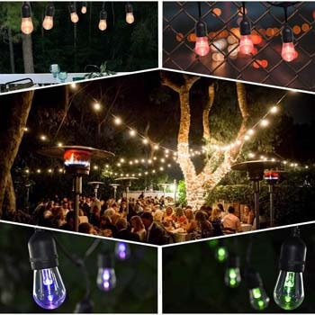 8: SUNTHIN Outdoor String Lights Color Changing, 42ft Patio Lights