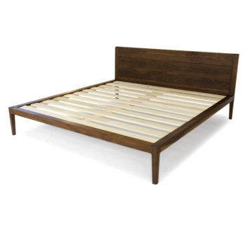walnut platform bed no. 1