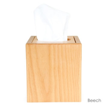 beech wood tissue box cover