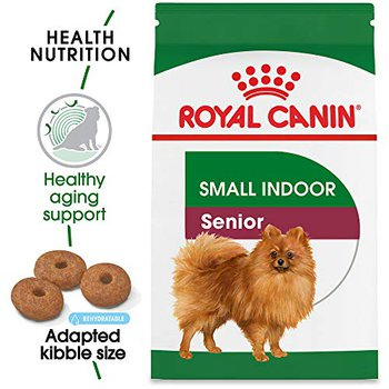 royal canin small indoor senior dry dog food small kibble for healthy poops