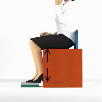 Hauteur d'une assise pour personne de petite taille