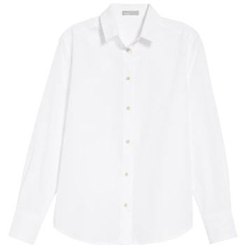 White oversized shirt | 40plusstyle.com