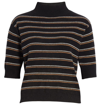 striped cashmere sweater | 40plusstyle.com