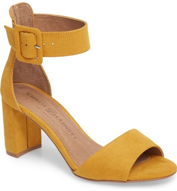 The perfect yellow sandals for women over 40 | 40plusstyle.com
