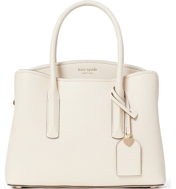 Kate Spade New York leather satchel | 40plusstyle.com