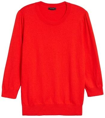 Halogen crewneck sweater | 40plusstyle.com