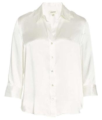 White silk shirt   40plusstyle.com