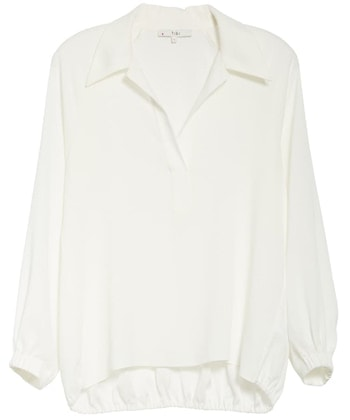 tops with wide collars | 40plusstyle.com