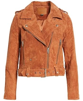 BLANKNYC suede moto jacket | 40plusstyle.com