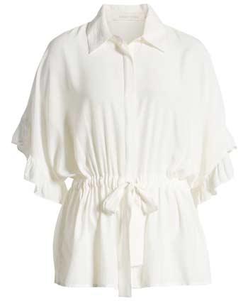 White ruffle blouse   40plusstyle.com