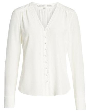 White silk blouse   40plusstyle.com