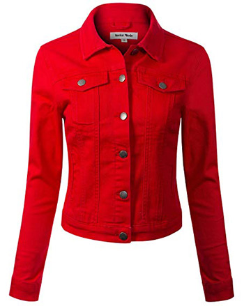 red denim jacket | 40plusstyle.com