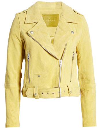 best leather jackets for women: Blank NYC suede moto jacket | 40plusstyle.com