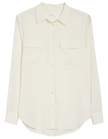 White sheer blouse   40plusstyle.com