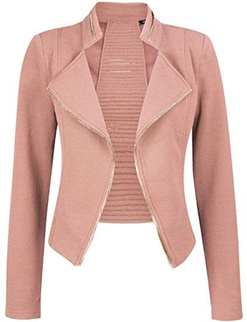 Pink cropped jacket | 40plusstyle.com
