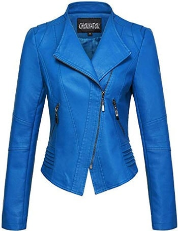 Chouyatou leather biker jacket | 40plusstyle.com