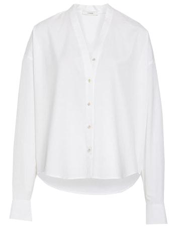 White cotton blouse | 40plusstyle.com