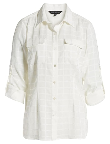 White see-through shirt   40plusstyle.com