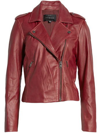 best leather jackets for women: Lucky Brand leather moto jacket | 40plusstyle.com