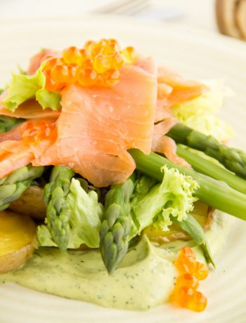 #salmon, fish, #asparagus, #avocado, #salad