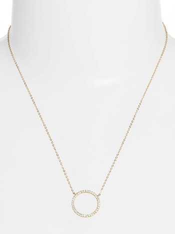 Nordstrom open circle pendant necklace | 40plusstyle.com