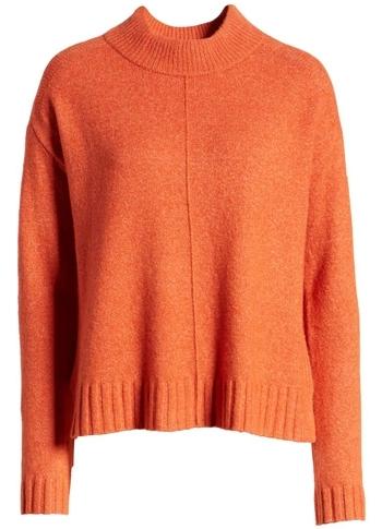 Caslon mock neck sweater | 40plusstyle.com