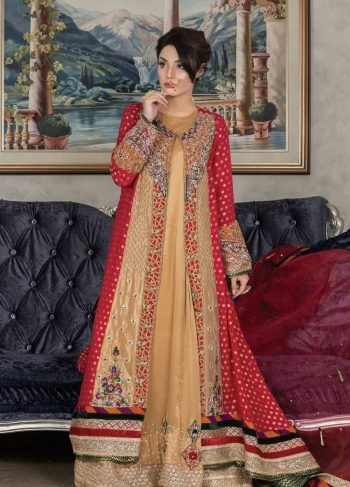 Buy Exclusive Red And Golden Dress – Sabd203 Online In USA, Uk & Pakistan