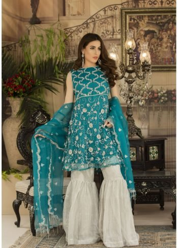 Buy Exclusive See Green And Silver Dress – Sdbd03 Online In USA, Uk & Pakistan - 02