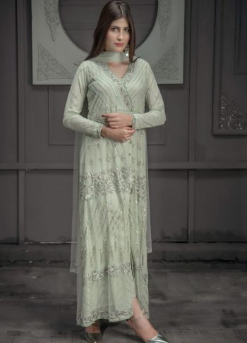 Buy Exclusive Mint Green Bridal Wear – Zbd15 Online In USA, Uk & Pakistan