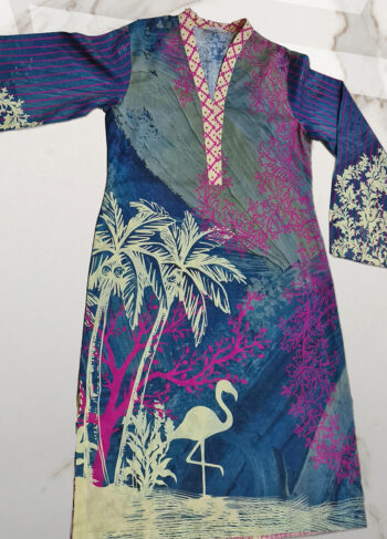 Buy Exclusive Lawn Kurti – Afcl14 Online In USA, Uk & Pakistan