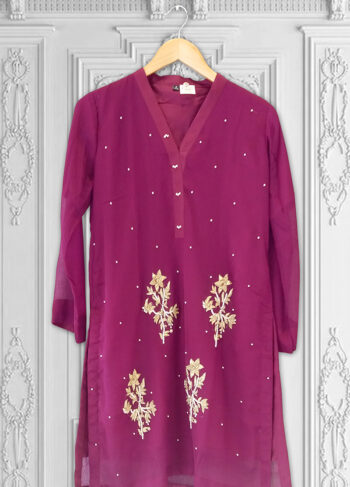 Buy Exclusive Majenta Kurti – Ht60 Online In USA, Uk & Pakistan