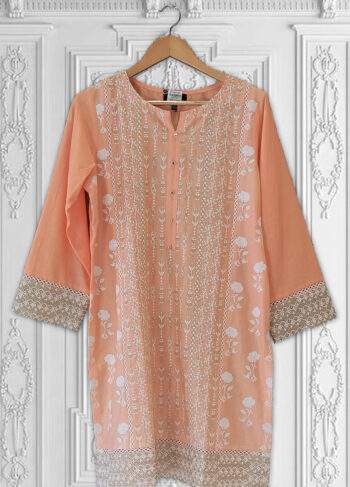 Buy Exclusive Peach Kurti – Ht62 Online In USA, Uk & Pakistan