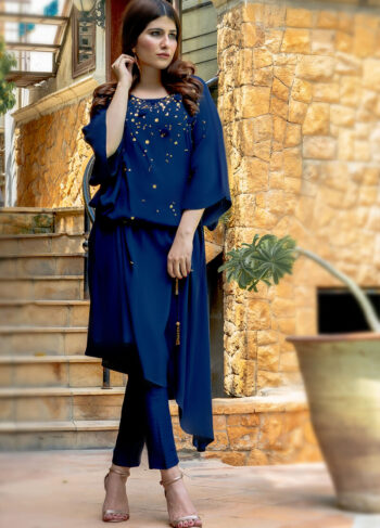Buy Exclusive Navy Blue Luxury Pret – Sds362 Online in UK, USA & Pakistan