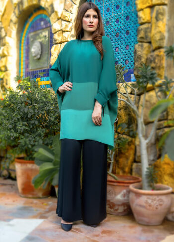 Buy Exclusive Green And Black Casual Wear – Sds488 Online in UK, USA & Pakistan - 02