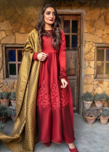 EXCLUSIVE MAROON AND GOLDEN LUXURY PRET - ZZS1047