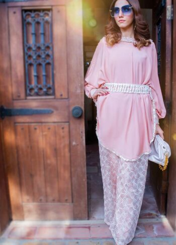 EXCLUSIVE LIGHT PINK AND OFF WHITE COLOR CASUAL WEAR 2021