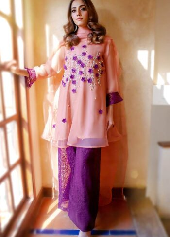 EXCLUSIVE TEA PINK AND PURPLE PARTYWEAR 2021