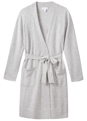 Best loungewear - The White Company cashmere robe | 40plusstyle.com