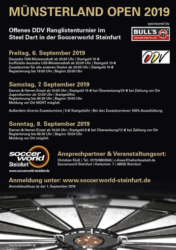 Flyer Münsterland Open 2019 Bild