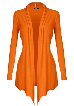 orange cardigan | 40plusstyle.com